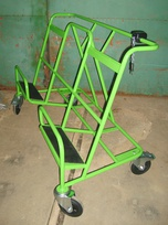 Transport trolley for panels