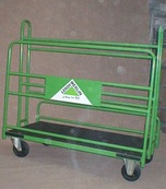 Trolley for pannels