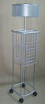 Umbrella stand with extra basket
