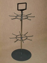 Stand with 2 rotors with hooks and logo handle