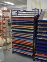 Rack for adhesive foil in sheets