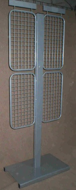 Floor Stand with grids for attaching hooks and logo space