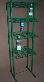 Hook-shelving for water bottles