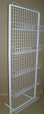 Lattice rack with bookshelves