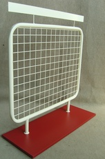 Grid-based counter stand - wooden base