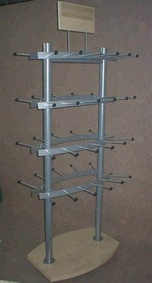Display stand with wooden parts ALM