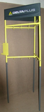 Stand for climbing equipment
