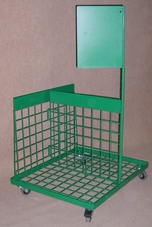 Trolley with grid and place for graphics